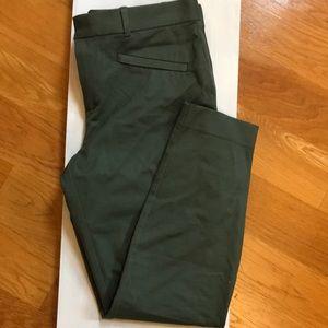 Gap skinny ankle green pants 12
